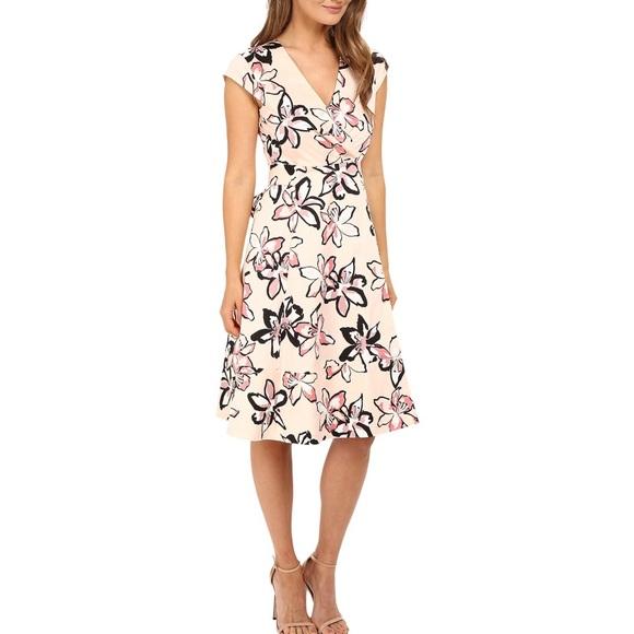 Kate Spade Tiger Lily Midi Wrap Dress
